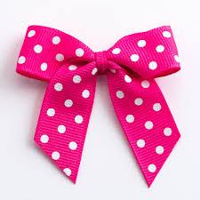 grosgrain ribbon 12 hot pink polka dot self adhesive grosgrain ribbon bows self