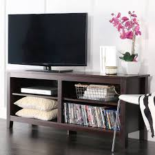 walmart tv table stand wood tv stand for tvs up to 60 espresso walmart com