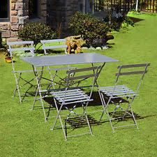 Steel Patio Furniture Sets outsunny steel patio u0026 garden furniture sets ebay