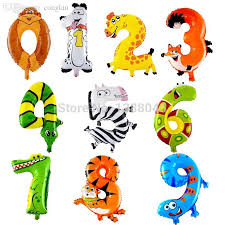 balloons wholesale wholesale 19 inch new arrival animal number foil balloons birthday