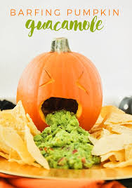pumpkin foods throwing up pumpkin guacamole a festive halloween party food