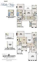 homes for sale with floor plans floor plans at vista in san elijo new homes for sale