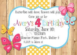 template stylish flower butterfly birthday invitations with