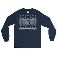 hannukah sweater hanukkah sweater sleeve t shirt american judaica