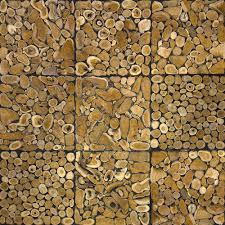 Wooden Wall Coverings Stacked Wood Wall Tiling Sda Decoration
