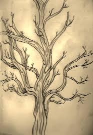 unique black tree tattoo design