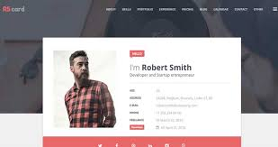 20 free and premium resumecv html website templates and layouts