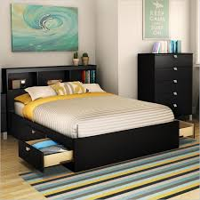 contemporary bedroom with full bed frame storage canada ideas