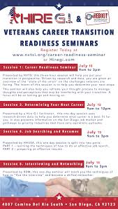 veteran resume help career transition readiness seminars us veteran and military click here to view the schedule and to register for this event
