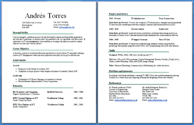 best resume template 2 two page resume sle jcmanagement co