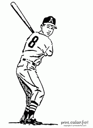 baseball bat coloring pages baseball player coloring page print color fun