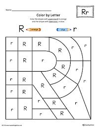 uppercase letter r color by letter worksheet myteachingstation com