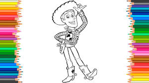 toy story 4 coloring book l woody coloring pages for children