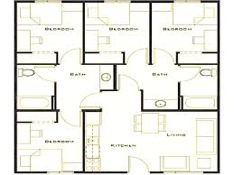 unique 4 bedroom home blueprints small house plans extraordinary