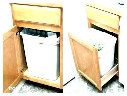 trash cans for kitchen cabinets kitchen cabinet trash bins trash cans for kitchen cabinets kitchen