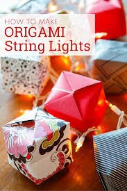 how to make origami lights with scrapbook paper unsophisticook