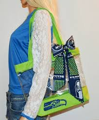 seahawk ribbon seahawks tote clear bags seahawks and seattle sea