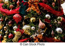 stock images of gold and silver balls on tree a
