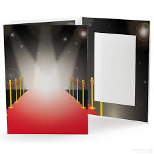 Photo Albums 5x7 Red Carpet Photo Event Folder For 5x7 Prints Picture Frames