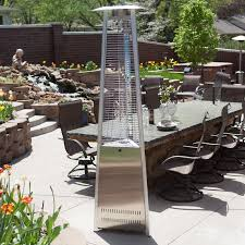 Glass Tube Patio Heater Red Ember Glass Tube Commercial Stainless Steel Patio Heater With