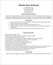 Resume Samples For Teacher by Professional Foreign Language Teacher Templates To Showcase Your