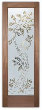 glass door designs interior glass door cherry tree 3d carved etched glass door
