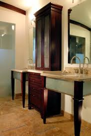 Unique Bathroom Vanities Ideas Built In Bathroom Vanity Ideas Classy Double Carved Dark Browk