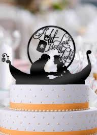 boat cake topper tangled and at last i seen the light boat with lantern wedding