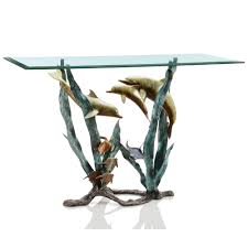dolphin seaworld console table console tables home and tables