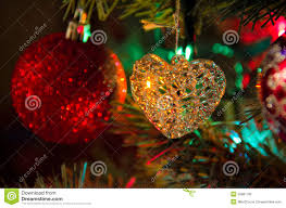 Glass Christmas Tree Ornament - glass heart christmas tree decoration ornament stock image image