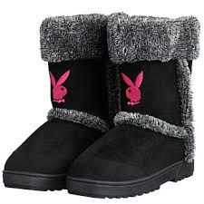 playboy home decor marvelous playboy bunny slipper boots micro suede and faux fur at