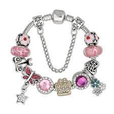 murano glass bead bracelet images Murano glass beads crystal paw prints bracelet pup bling jpg