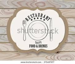 vintage restaurant logo emblemrestaurant signvintage design stock