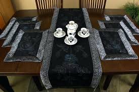 table runner placemat set table runner and placemats set mystic black bamboo table runner