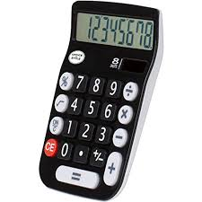 calculator sle size amazon com office style a2desktopblack 8 digit dual powered