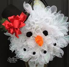 Christmas Decorations To Make Yourself - how to make deco mesh snowman wreath snowman wreath snowman and