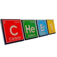 periodic table drink coaster set science art unique chemistry