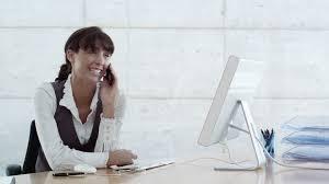 femme de bureau femme d affaires téléphoner bureau business 4k collection