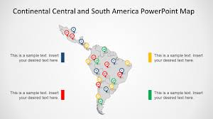 South America And Central America Map by Continental Latin America Powerpoint Map Slidemodel