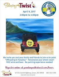 jeep beer tire cover jeep spare tire cover painting class april 9th lewes de