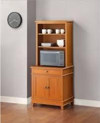 kitchen microwave stand wood utility island cart hutch storage