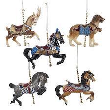 kurt adler carousel ornament set ornaments