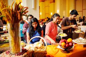 international students thanksgiving feast news northeastern