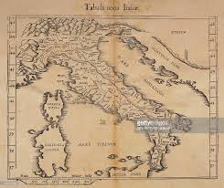 Maps Of Italy by Map Of Italy Woodcut From Relief Map By Claudius Ptolemy Vienna