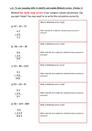 addition worksheet mental and informal methods by hannahw2