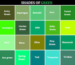colour shades with names shades of green names google search colors pinterest