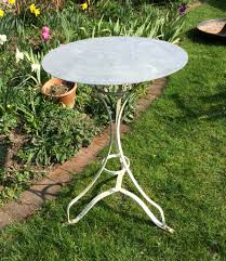 Zinc Bistro Table Zinc Topped Bistro Table In From The Vintage Garden Company