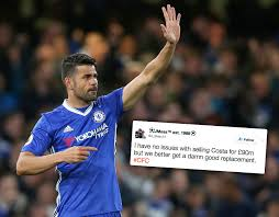 chelsea costa diego diego costa china transfer chelsea fans celebrate as ace closes in