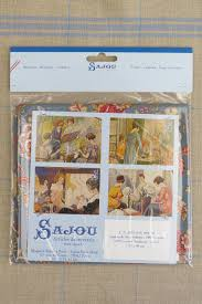 tissu motif paris swatch indienne fabric motif 5 on blue base 50x55cm from