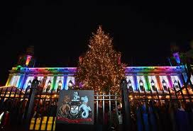 christmas lights switch on at belfast city hall photos